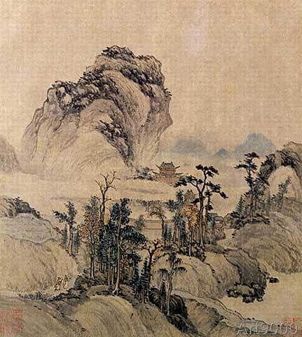 Chinesische Malerei - Mountain view