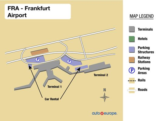 Frankfurt Airport Terminal Map