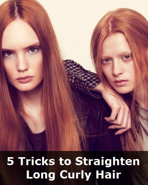 5 Tricks to Straighten Long Curly Hair