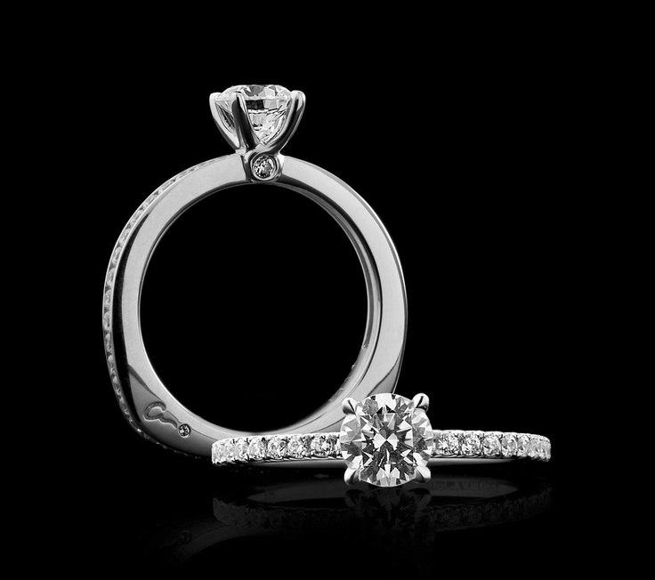 Engagement Shared Prong French Pavé Ring