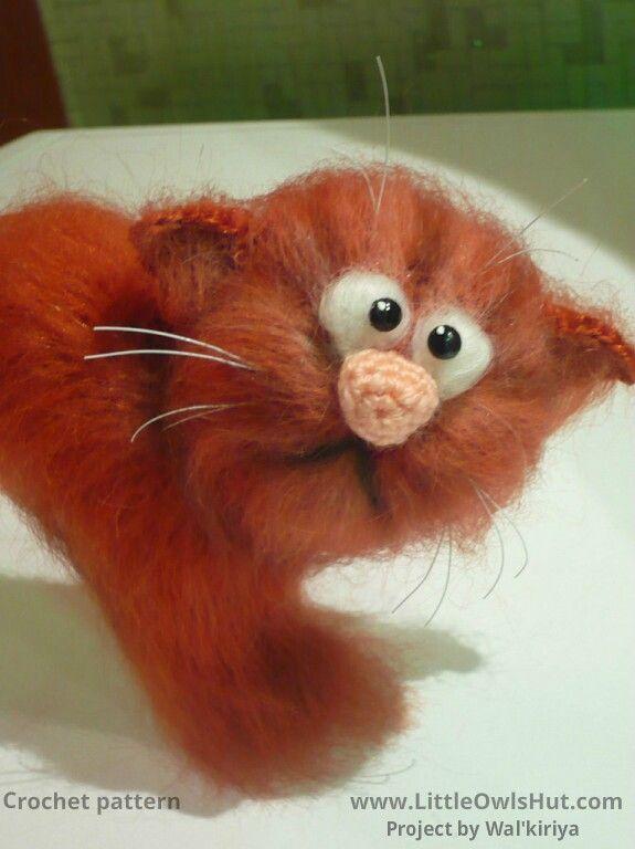 Project by Walkiriya. Crochet pattern by Pertseva Cat Heart ValentinCat 14 February Ravelry #LittleOwlsHut, #Amigurumi, #CrohetPattern, #Crochet, #Crocheted, #Cat, #Pertseva, #DIY, #Craft, #Pattern, #Valentine's, #14February