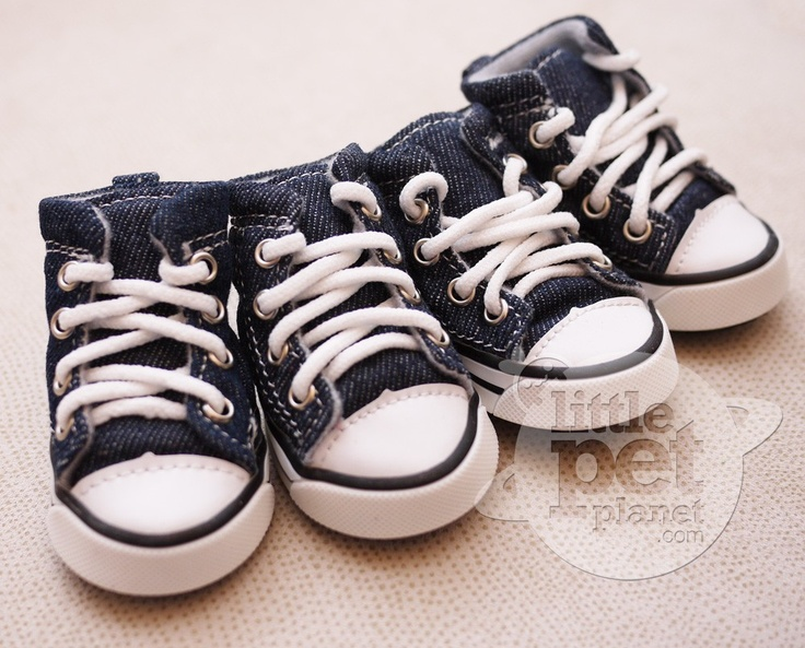 Little Pet Planet - Denim Canvas Converse Dog Sneakers Boots, US$22.99 (http://www.littlepetplanet.com/accessories/socks-shoes/denim-canvas-converse-dog-sneakers-boots/)