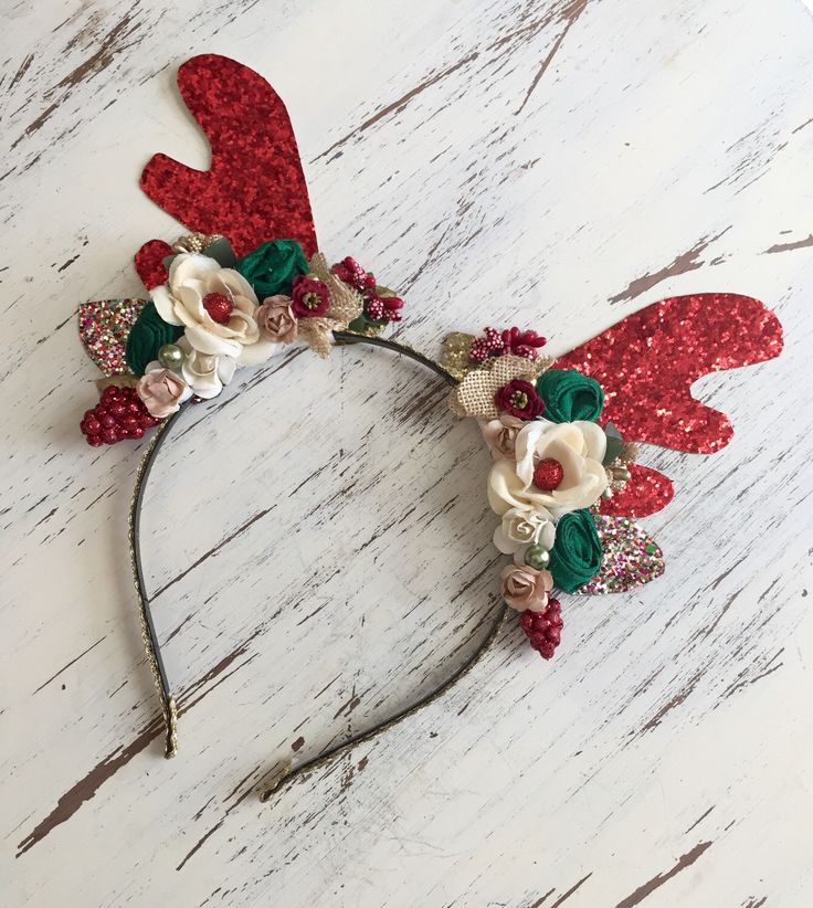 Reindeer Headband-Christmas Headband- Baby Headbands- reindeer Antler Headband- Deer Headband- ]Holiday by AvryCoutureCreations on Etsy https://www.etsy.com/listing/254928796/reindeer-headband-christmas-headband