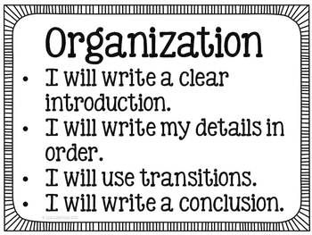 61 writing traits organization Each of the six writing traits--organization included--can be broken down into multiple smaller writing skills that--when working together--make-up the bigger trait below, find some of our.