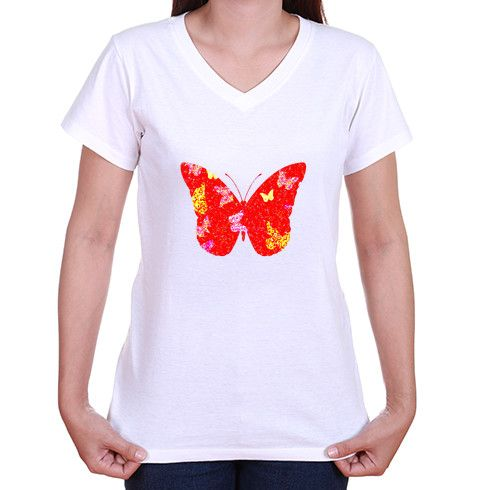 Red Butterfly T Shirt @zippiuk Originating from a handpainted image this design features a flutter of painted butterflies contained within one big red butterly silhouette. #zippi #girlsfashion #now #vnecktshirts #fashionista #white #papillon #wings #insects #nature #tshirts #katemoss #tees #design #flutter #butterflies #red #butterly #silhouette