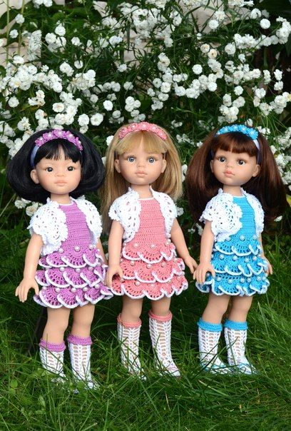 Crochet Clothes for Paola Reina Dolls
