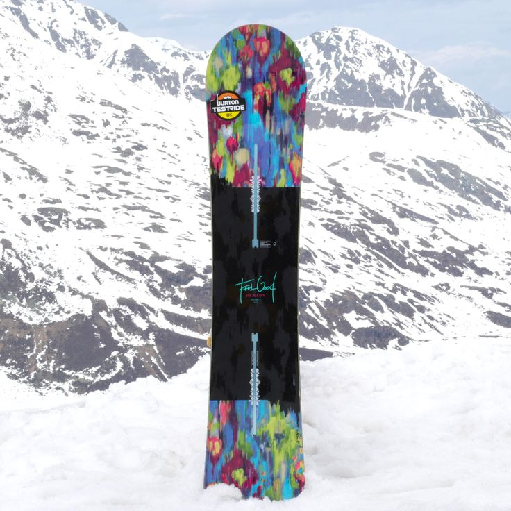 Burton Feelgood Flying V snowboard is Burton's lightest weight women's snowboard & its' perfect for women who are ready to hit the whole mountain.