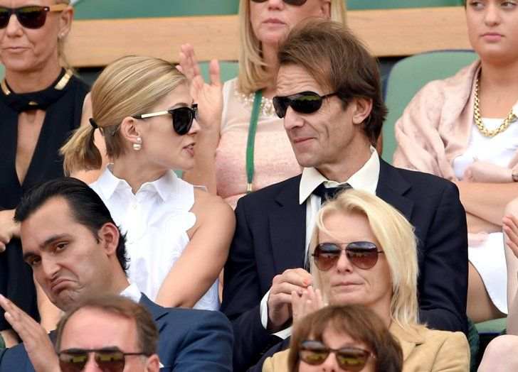 Pin for Later: We Played Spot the Celebrity Tennis Fan at Wimbledon Rosamund Pike and Robie Uniacke