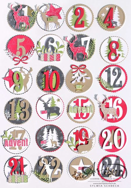 Advent calendar with the awesome stampin-up stamp set Merry Patterns - stempeleinfach.de