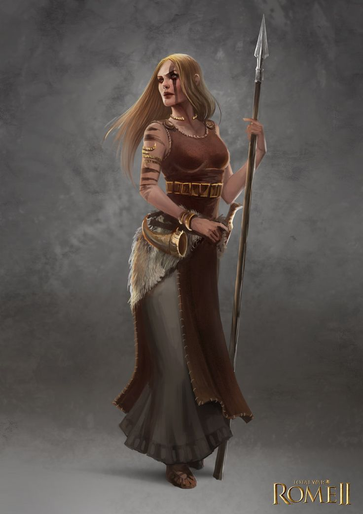 Total War: Rome II - Germanic Female Champion by telthona on DeviantArt