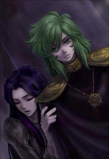 Pandora e Shun, o hospedeiro do Imperador Hades.