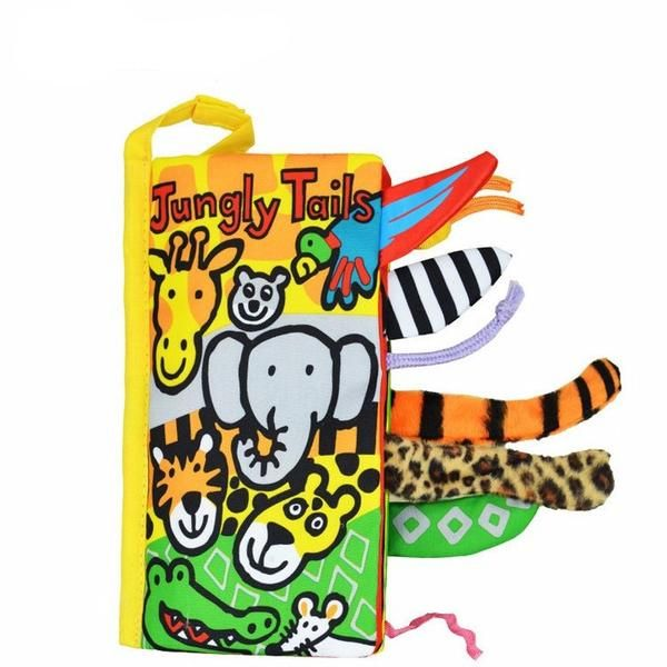 Baby Infant Cloth Books Animals Jungly Tails Early Development Toy Educational Bebe Boys Girls Soft Book
