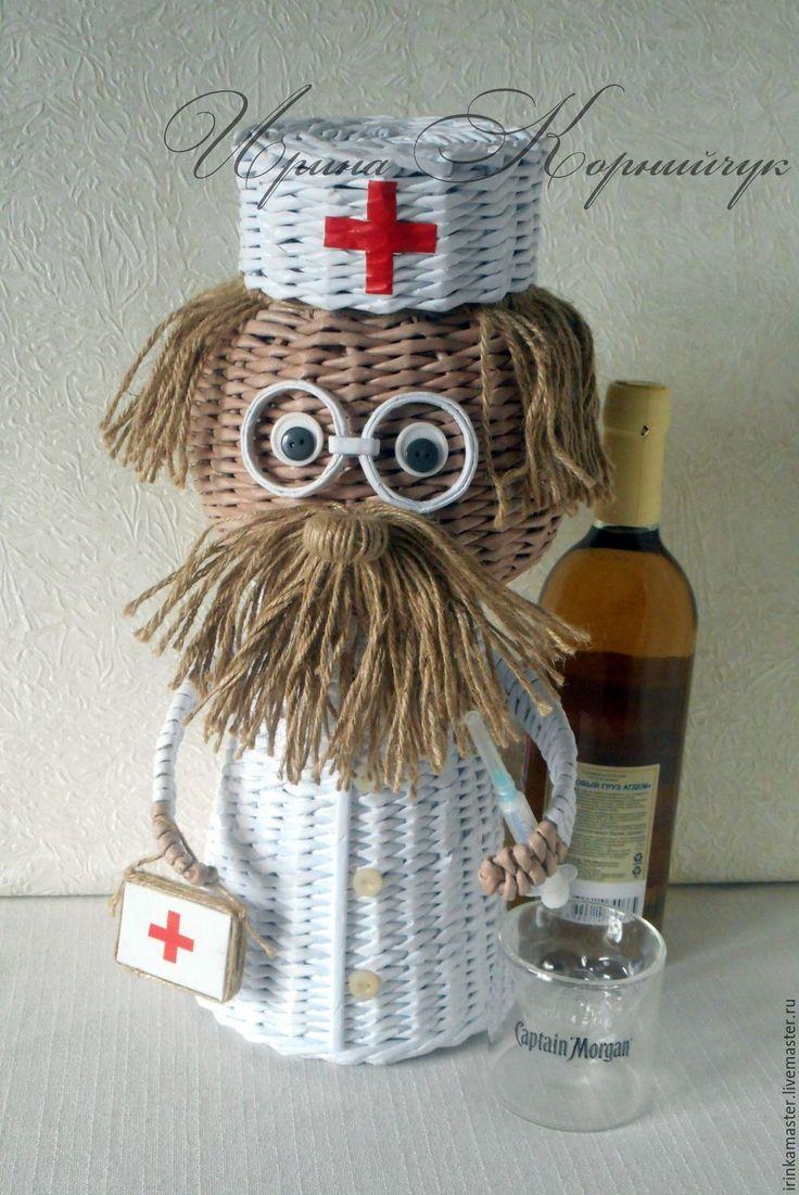 """Купить Короб для спиртного""""Добрый доктор Айболит"""" - разноцветный, доктор айболит, Айболит, для вина, для бутылок"""