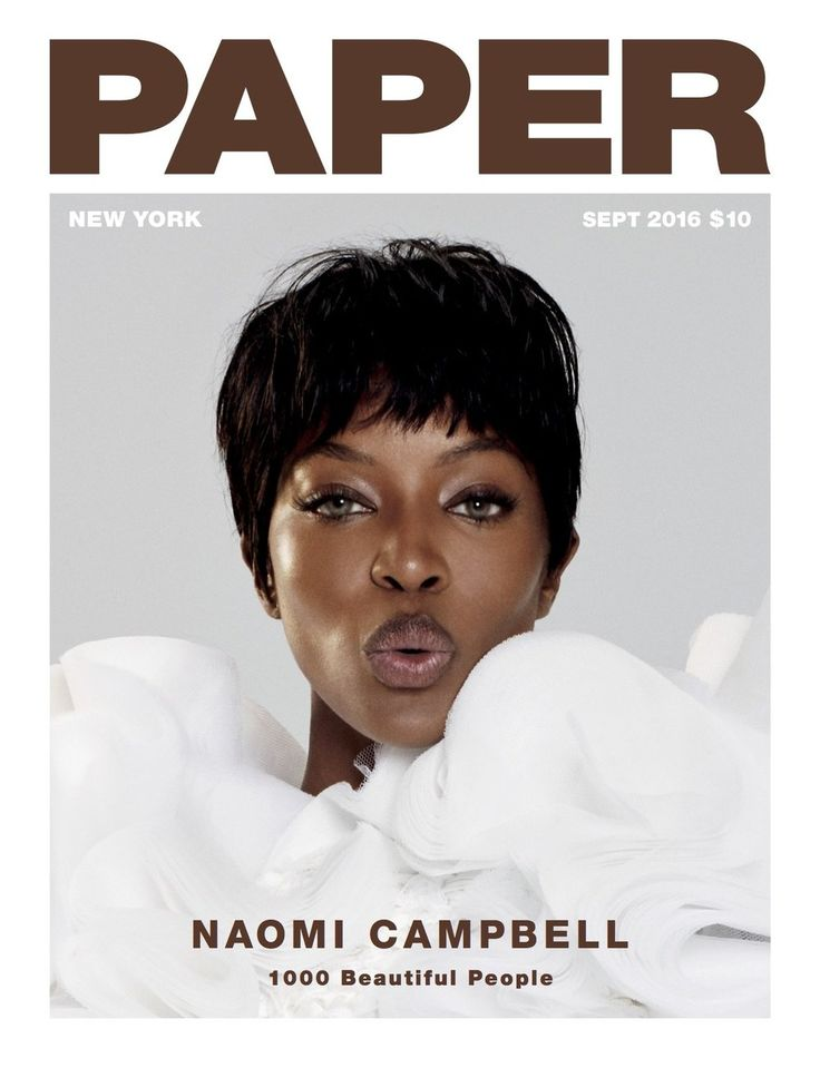 Supermodel Naomi Campbell stars as a cover girl for the September 2016 issue of…