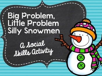 SOCIAL SKILLS - 60 situations in which students must determine the size of the problem as well as a solution!