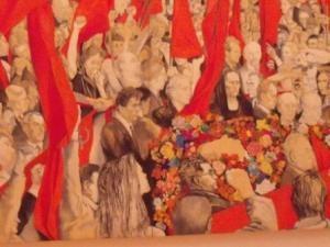 Renato Guttuso: Il funerale di Togliatti