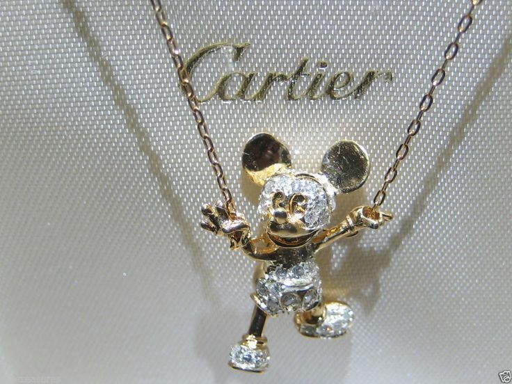 Vintage Cartier Mickey Mouse Walt Disney 18kt Gold Tone