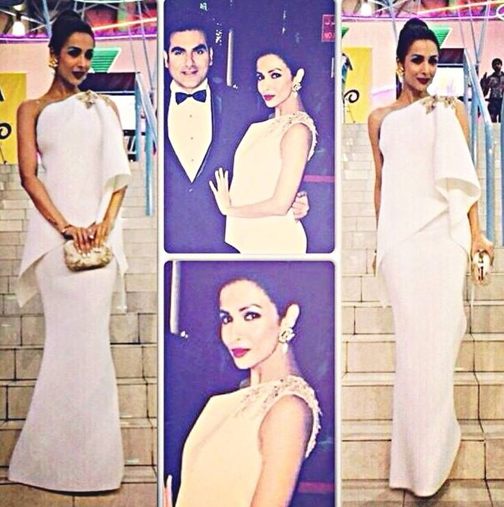 Unveiling the Spring Summer 15 most spectacular couture looks as Malaika Arora Khan takes center stage in Shantanu & Nikhil bold and edgy one-sided drape gown #shantanunikhilSS15 #redcarpet