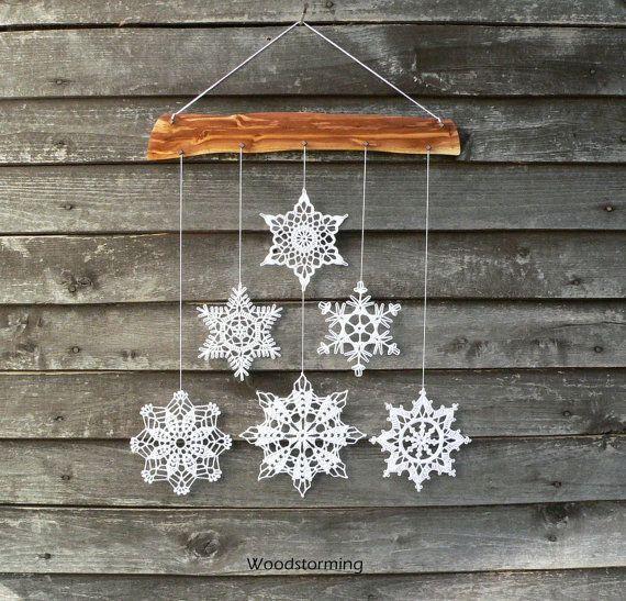 Flocon de neige Noël décoration flocons de neige par Woodstorming