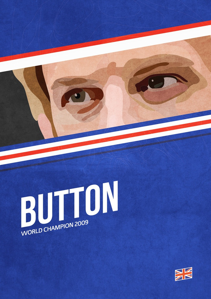 'Button' poster from the Grand Prix Champions series #F1