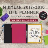 <h4></h4> https://youtu.be/NtHrX3BB5-4 Can you believe that half of 2017 is already gone? This is a great planner for those who haven't yet sat down and plan for the rest of the year and the following year ahead. The <strong>Mid 2017-2018 Life Planner</strong> will do wonders and bring clarity to your goals, projects, schedule and life! If you want to learn a new skill, lose weight, craft a new project or improve your financial goals, thi...