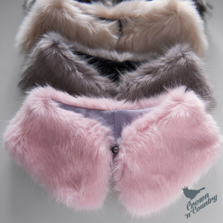 Faux Fur peter pan collars - to liven up an outfit