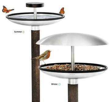 FUERA Bird Feeder / Bird Bath - contemporary - Bird Feeders - Home Clever, Inc.