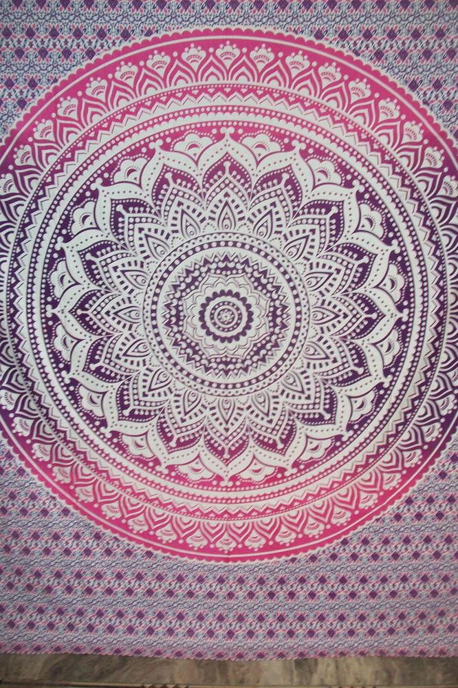 Ombre Indian Mandala Tapestry Hippie Tapestry Wall Hanging Bedspread  #Handmade #BedspreadTapestry