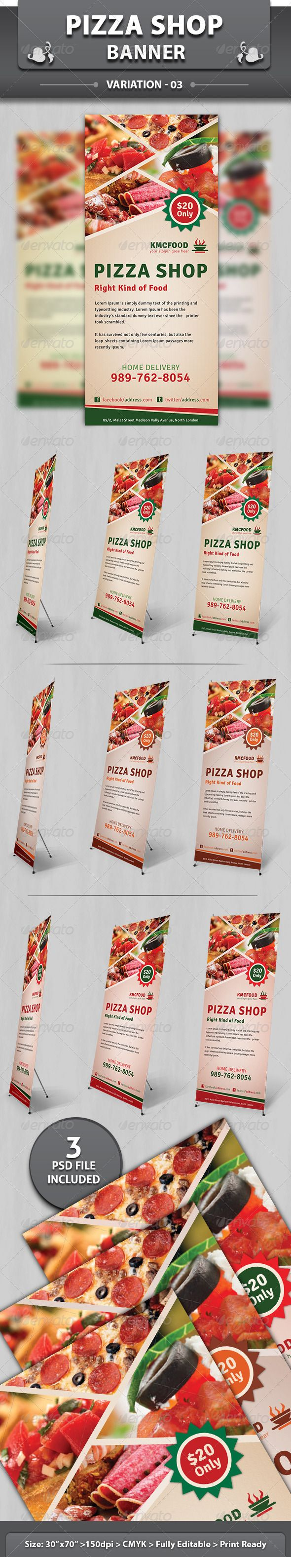 Digital banner design for psd files - Restaurant Business Banner Volume 2