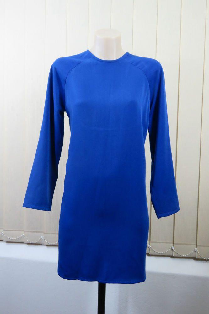 Size XS 8 Zeitgeist Ladies Shift Dress Tunic Cobalt Blue Cocktail Cut Out Design