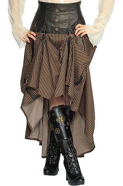 Steampunk Fashion Women | Intrepid Steampunk Skirt Living Dead Souls Voodoo Vixen Gothic Punk ...