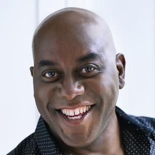 Ainsley Harriott (February 28, 1957) British presenter and  tv-chef, o.a. known from 'ReadySteadyCook'.