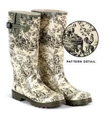 Toile boots!: Patterns, Mud, Toile Welli, Rain Boots, Clothing, Wellington Boots, Things, Black, De Jouy