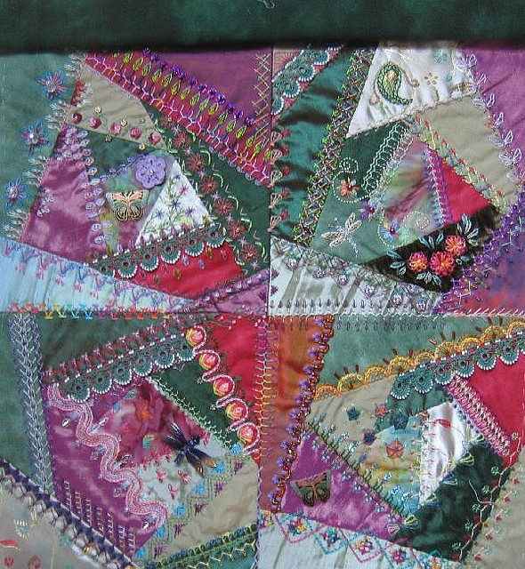 Crazy Quilt Good Use Of Scraps And A Cool Historic