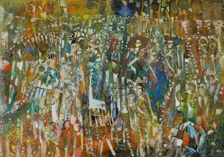 Rozsda Endre: Charleston / Charleston - 1992 - 65x92 cm - olaj, vászon I oil on canvas