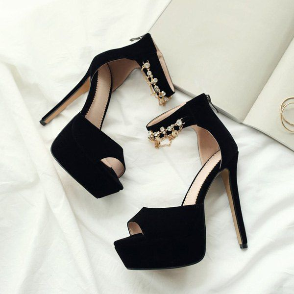 SHARE & Get it FREE | Ankle Strap Pendant Stiletto Heel SandalsFor Fashion Lovers only:80,000+ Items • New Arrivals Daily • Affordable Casual to Chic for Every Occasion Join Sammydress: Get YOUR $50 NOW!