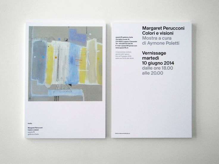Margaret Perucconi | Invito Galleria78
