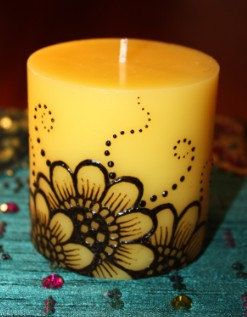 sunflower Henna Candle
