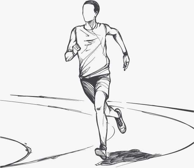 Running Sketch Vector Illustration Material Running Vector Sketch Vector Run Png Transparent Clipart Image And Psd File For Free Download Human Figure Sketches Running Illustration Figure Sketching