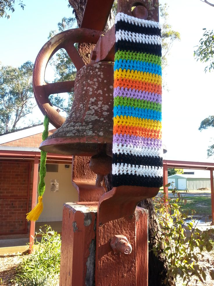 The 130yr old bell has had a makeover at Ballina Public School