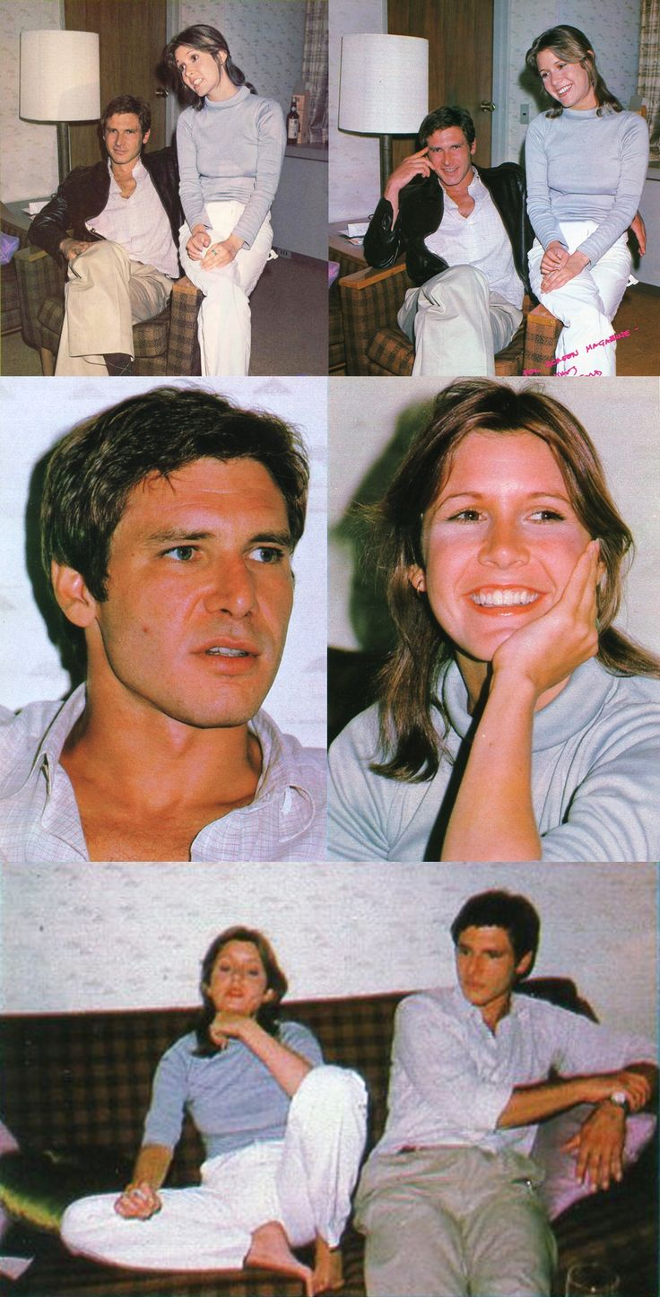 STAR WARS : Shooting photo | Carrie FISHER (Leia ORGANA) and Harrison FORD (Han SOLO) | Japan (1978) | Episode IV : A New Hope (1977)