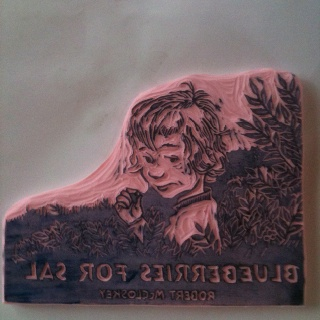 Blueberries for Sal stamp - carve