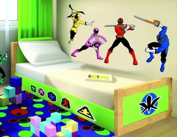 power rangers wall decor vinyl decal sticker art kids room power ranger samurai comforter superhero collection