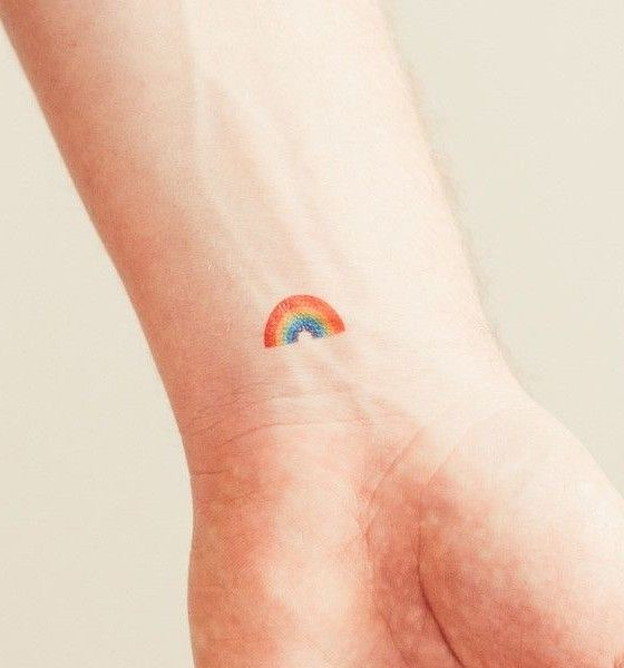 Riveting Small Rainbow Tattoo Tattoo Design August 2016