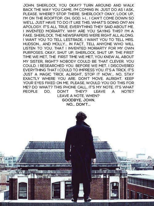 Sherlock's St. Bart's speech