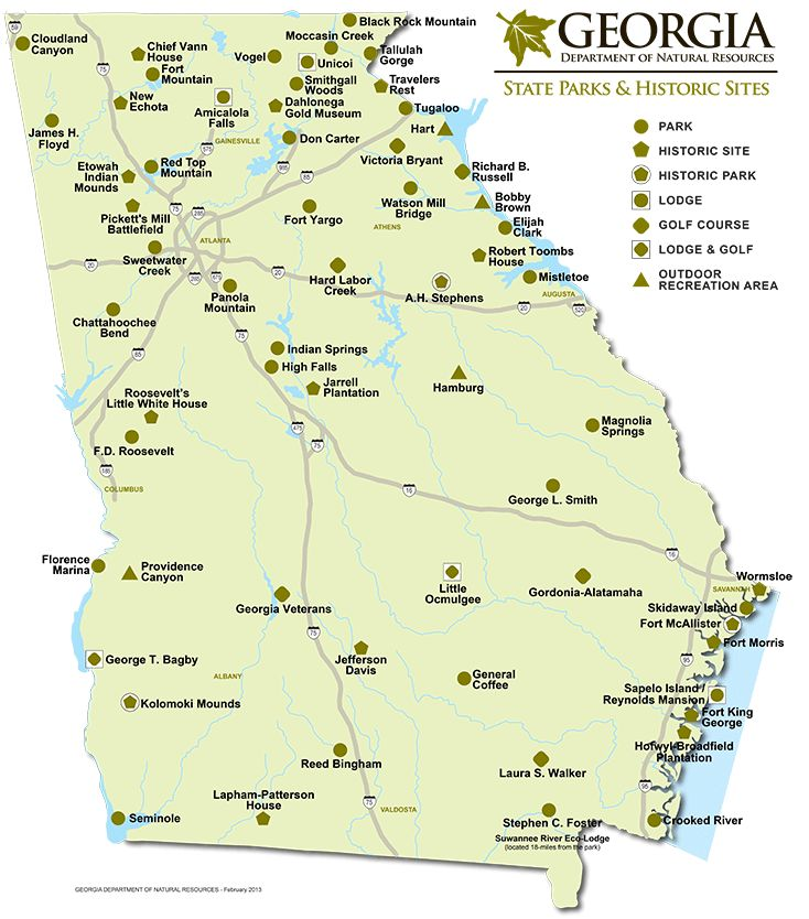 Our BC trip hasn't even past yet and we are already planning the next vaca! State Park Map & Historical Sites Georgia