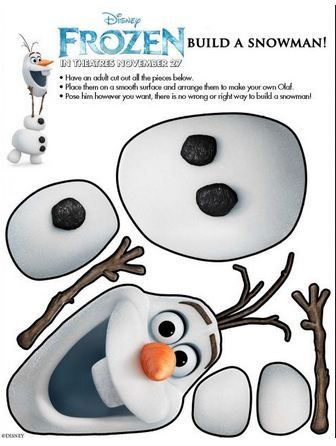 Build a snowman, Frozen and Snowman on Pinterest