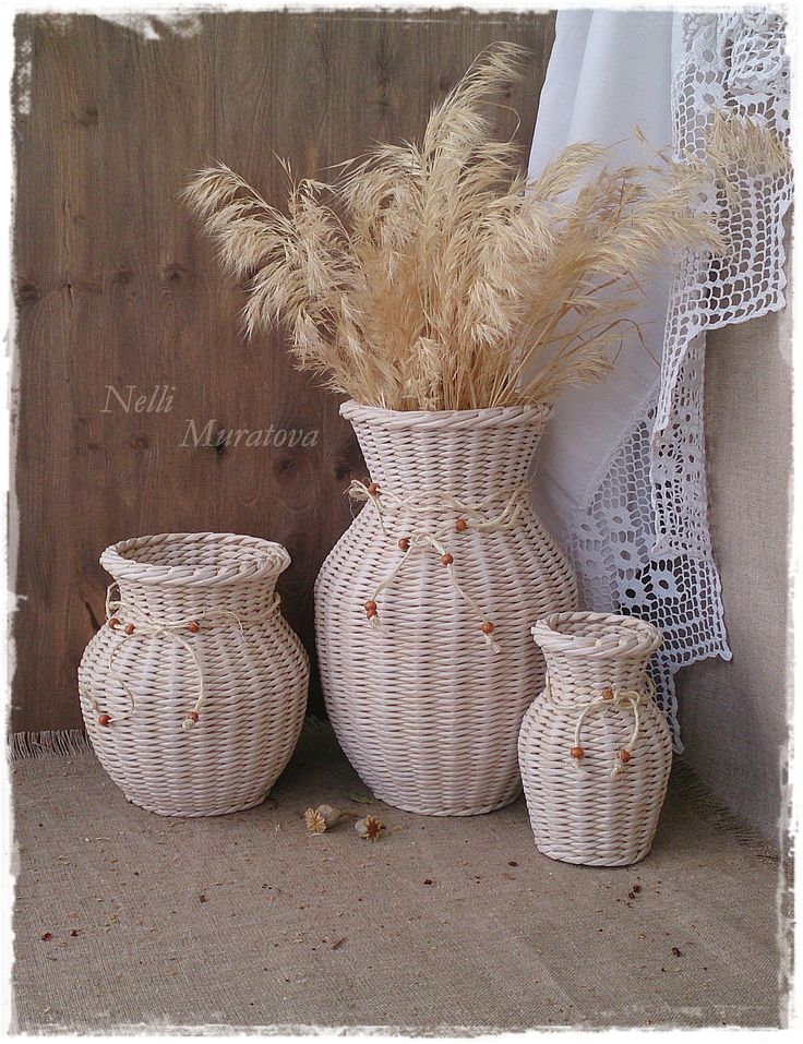 Vases wicker