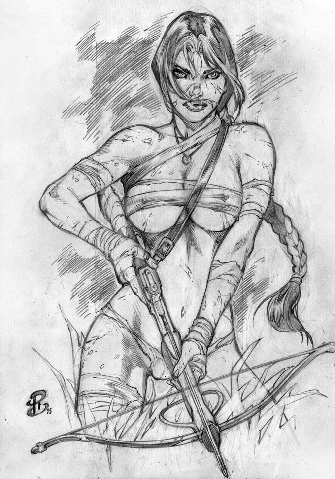 LARACROFT PENCIL - SEXY BEAUTIFUL ORIGINAL PINUP ART BY RENATO CAMILO – RC in Comics | eBay