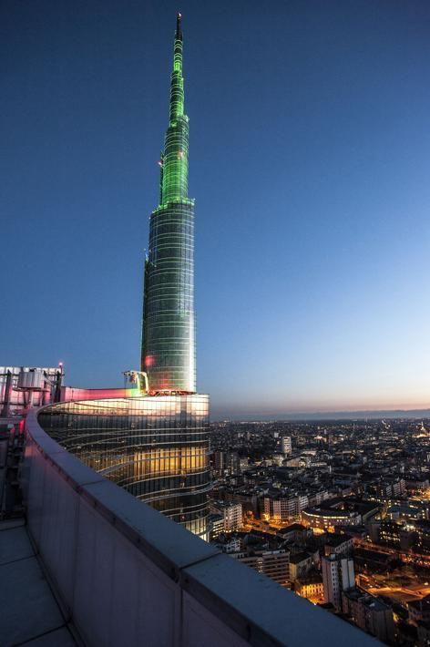 Milan, Italy, Unicredit Tower by Cesar Pelli